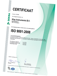 Klay Instruments certificaten